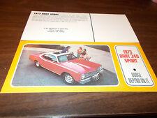 1973 Dodge Dart 340 Sport Advertising Postcard