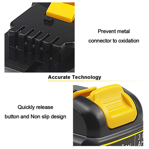 2X 3AH 10.8V Li-ion Battery For Dewalt XR DCB120 DCB121 DCB123 DCB125 MAX DCB127