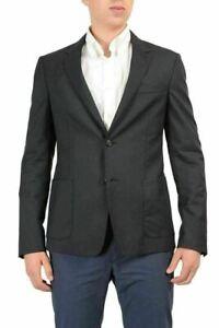 Prada-Dark-Gray-Two-Buttons-Men-039-s-Blazer-US-38-US-48