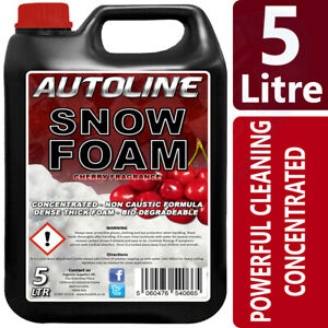 Autoline-Snow-Foam-shampoo-high-gloss-wax-cherry-fragrance-5L-GREAT-OFFER