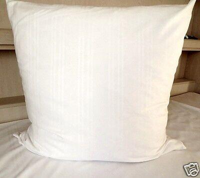 Bettwäsche Baumwolle Hotelbettwäsche Streifsatin Weiß Größe 135x200 cm