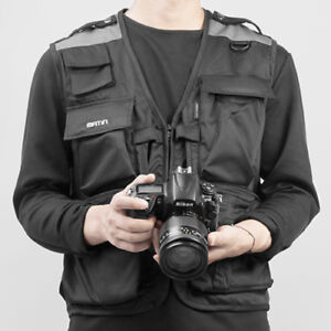 Matin-SHOOTING-VEST-13-Multi-Pocket-Camera-Photographer-Jacket-Coat-Black-M