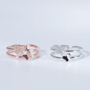 Reino Unido caracteriza 9ct Oro Blanco 0.50ct Señoras Anillo Corazón CLUSTER-TAMAÑO R