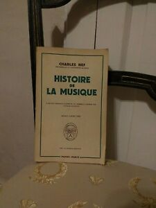 Charles-Nef-Histoire-De-La-Musique-Payot-1961-TBE