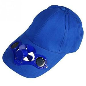 Solar Powered Air Fan Cool Baseball Hat Camping Traveling