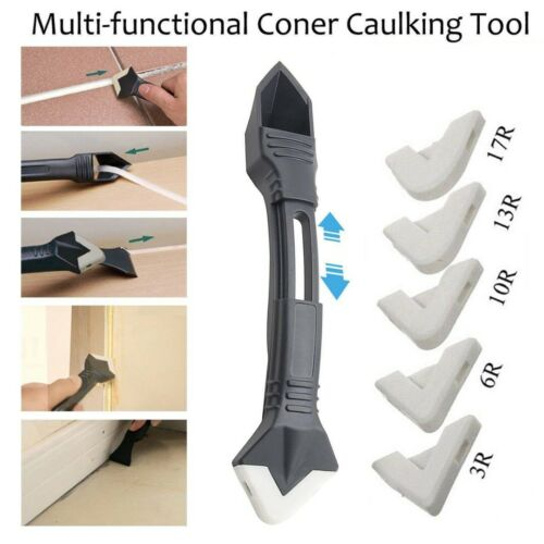 3 IN 1 Silicone Remover Caulk Finisher Sealant Smooth Scraper Grout Kit Tools *#
