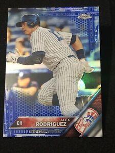2016 Topps Chrome Baseball ALEX RODRIGUEZ BLUE REFRACTOR #d 103/150, NY YANKEES