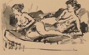 Peter-Collins-ARCA-Set-of-14-c-1970s-India-Ink-Studies-of-Nude-Models