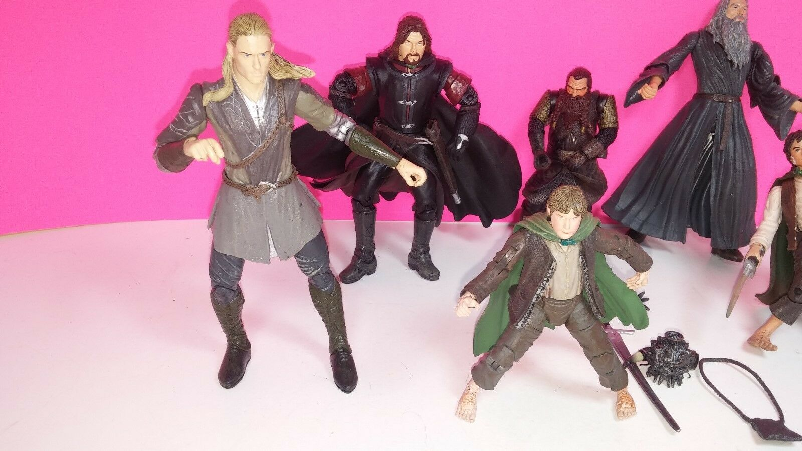 Marvel Lord of The Rings Rings Rings Action Figure Lot Hobbit 7cee1d