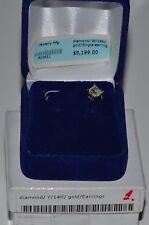 Single Diamond earrings Kolczyk Diamentowy, diament,brylant.