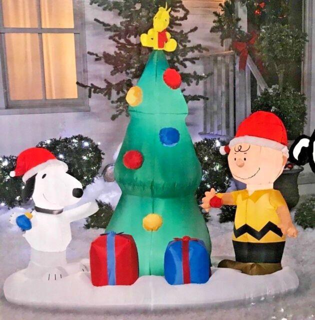 Charlie Brown Christmas Tree Image.New 6 Ft Long Peanuts Snoopy Woodstock Charlie Brown Christmas Tree Inflatable