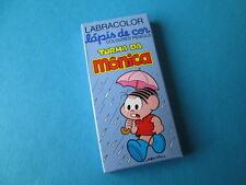 VINTAGE TURMA DA MÔNICA MONICA'S GANGA MINI COLOR PENCILS LABRA BRAZIL 80'S NEW