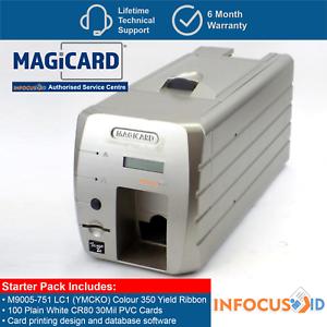 Magicard-Tango-2e-B-Grade-Dual-Sided-ID-Card-Badge-Printer-With-Starter-Pack