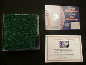 Minnesota-Twins-World-Series-Game-Used-Metrodome-Turf-n-Roof-1987-World-Series
