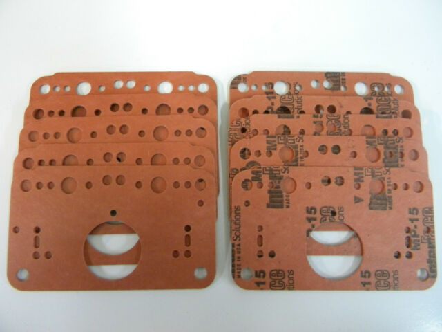 Holley QFT AED MP-15 Metering Block Gasket 3Circuit 4500 Dominator 1050-1600 CFM