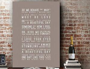 Elbow Song Lyrics One Day Like This Lyrics Framed Print With Mount Design 2