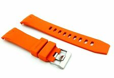 ORANGE 22mm Rubber/Silicone STRAP/BAND FOR OMEGA WATCH SeaMaster PLANET OCEAN