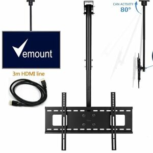 Image Is Loading Ceiling TV Wall Mount Bracket Height Adjustable Tilt