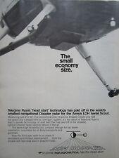 8/1972 PUB TELEDYNE RYAN AERONAUTICAL DOPPLER RADAR LOH AERIAL SCOUT ORIGINAL AD