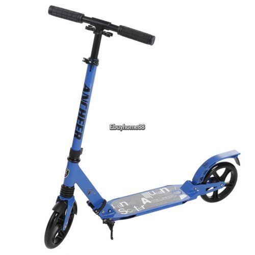 Height Adjustable Adult Folding Aluminum Alloy Kick Scooter Big Wheel Seller NEW