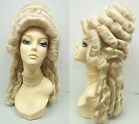 Marie Antoinette Wig Blonde Costume Colonial Baroque Historical Masquerade
