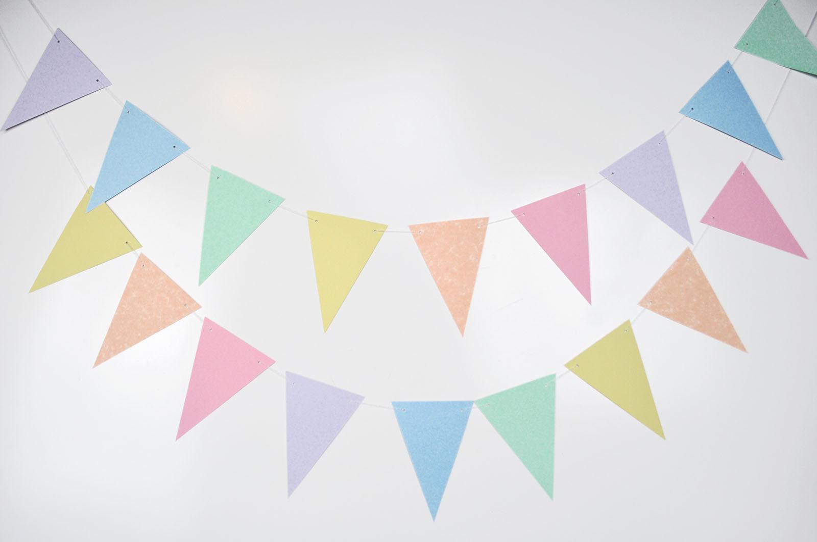 pastel rainbow flag bunting party shower wedding decoration | eBay