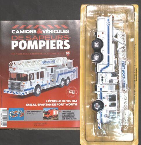 POMPIERS  N° 98 ECHELLE 1//43  105 RM SMEAL SPARTAN DE FORT WORTH