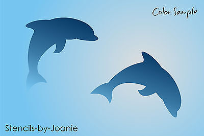 "Stencil 4"" Dolphin Shape Beach Ocean Fish Sea Animal Surf Lake Cottage Art Signs"