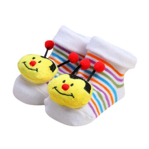 Cartoon Newborn Baby Girls Boys Anti-Slip Socks Slipper Shoes Kids Infant Boots