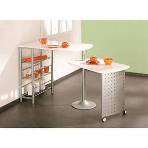 Table de cuisine modulable d appoint pivotante console for Meuble cuisine modulable
