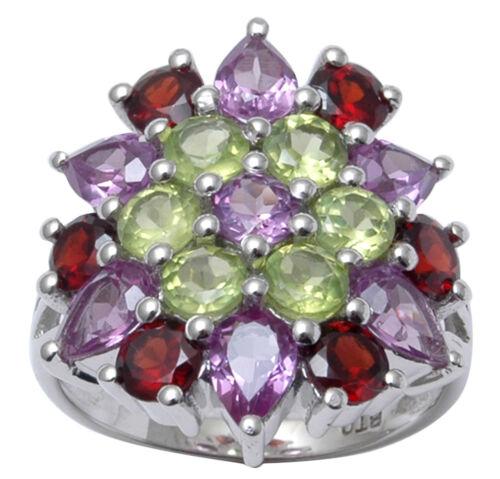 Multi-Pierre 925 Argent Sterling Bague Merveilleuses Femmes bijoux-SJR347-PAR