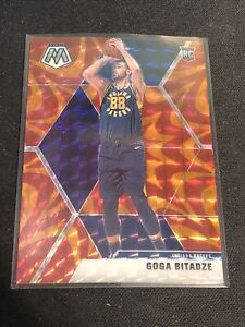 Goga Bitadze 2019-20 Mosaic Orange Reactive Prizm Rookie Indiana Pacers RC