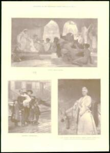 1897-Antique-Print-Fine-Art-Rivals-Normand-Destitute-King-Riviere-294