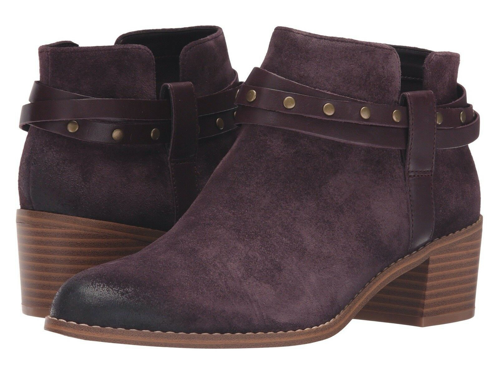 Chaussures femme Clarks Femmes Breccan Shine Aubergine Daim Cowboy Cheville Bottes Taille 4 D