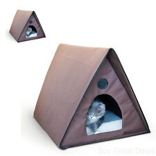 New K&H Manufacturing Outdoor Kitty A-Frame Cat House Cat Pet Gift