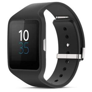 calidad superior ropa deportiva de alto rendimiento forma elegante Detalles de Sony Smartwatch 3 Negro SWR50 Reloj de Pulsera Android Pulsera  de Silicona
