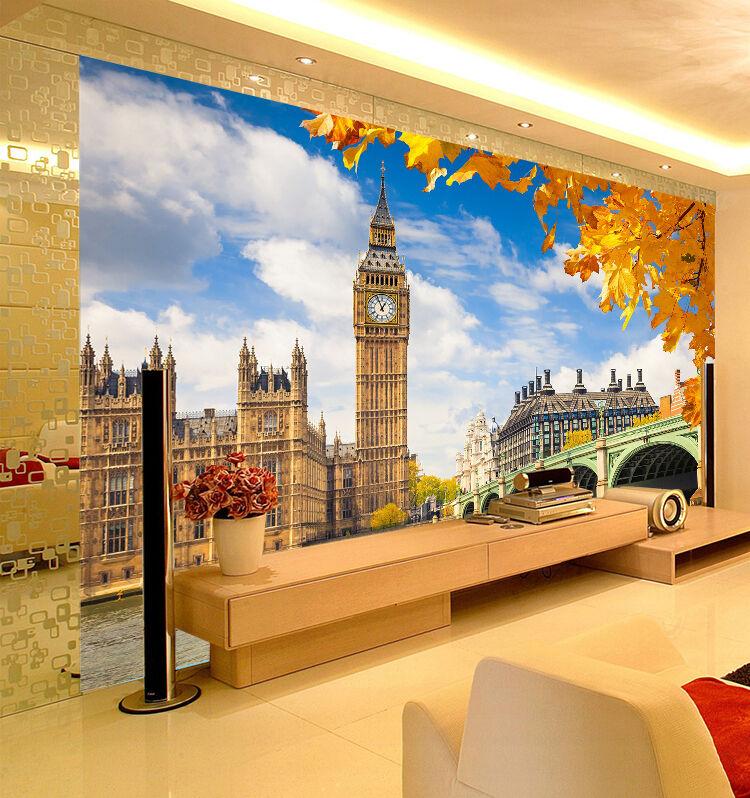 3D London Bridge Wall Paper Wall Print Decal Wall Deco Indoor Wall Murals