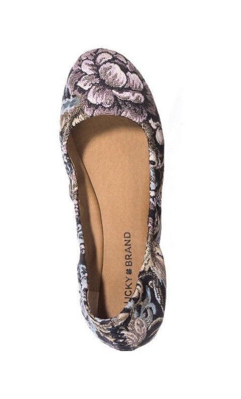 Lucky Brand Flats 8 New With Box Emmie Floral Print Slip On
