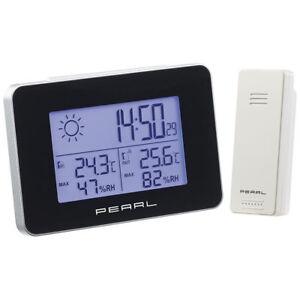 PEARL-Wetterstation-mit-Funkwecker-Thermo-Hygrometer-und-Funk-Aussensensor