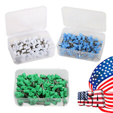 100pcs Dental Rubber Prophy Tooth Polish Polishing Cups Brush Latch Type 3 Color