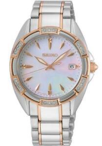 Seiko SKK878P1 Ladies 'Conceptual' Diamond Set Bezel Bi-Colour Watch RRP £500.00