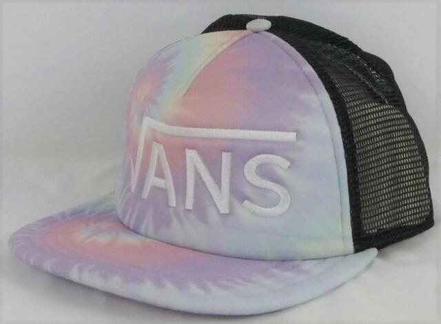 c7d54743 Vans Off The Wall Drop V Pink / Purple Tie Dyed Trucker Snapback Hat NEW NWT