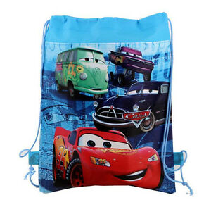 Cute Disney Cars McQueen Cartoon Drawstring Backpack Kids Drawstring School Bag