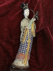 Vintage-Chinese-Cloisonne-Female-Figurine-Carved-Face-amp-Hand-12-5-034-2