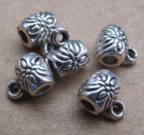 20pc Retro Tibetan Silver Bails Connectors Jewelry Findings Pendants BP0138