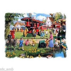 County Fair Farm HEAT PRESS TRANSFER for T Shirt Tote Bag Sweatshirt Fabric 747b