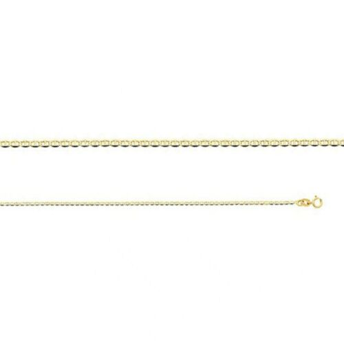 "14k Yellow Gold Mariner Chain Necklace Italy Solid Link 1.5mm 16/"" 18/"" 20/"" 22/"""