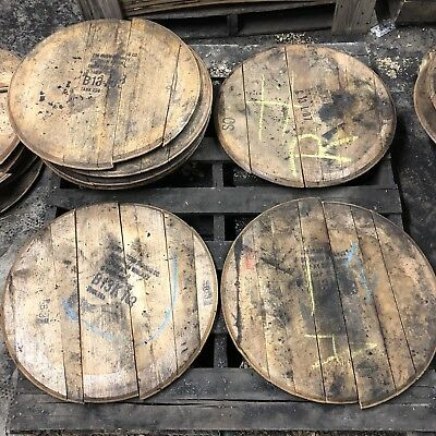 Display Piece! 100/% Authentic- Makers Beam,etc Bourbon Barrel Head with Ring