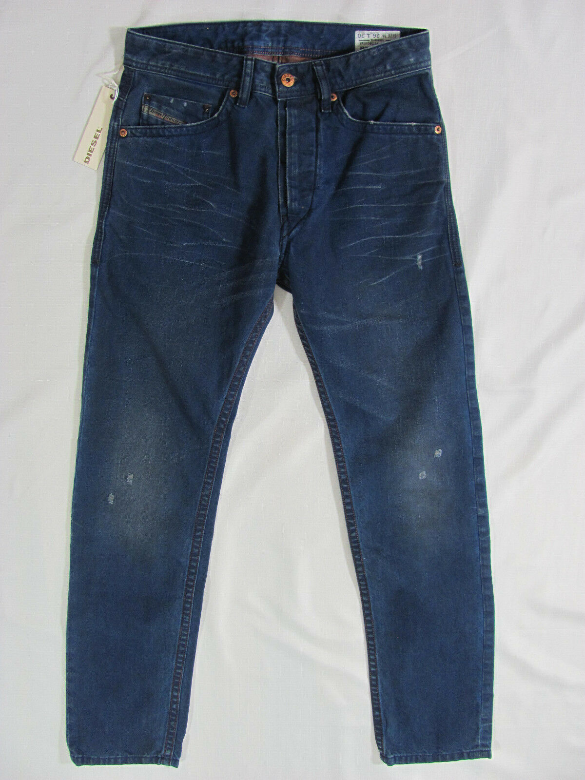 Men's Diesel Braddom Jeans-Slim Carred -Wash 0811K bluee -Size 26 New
