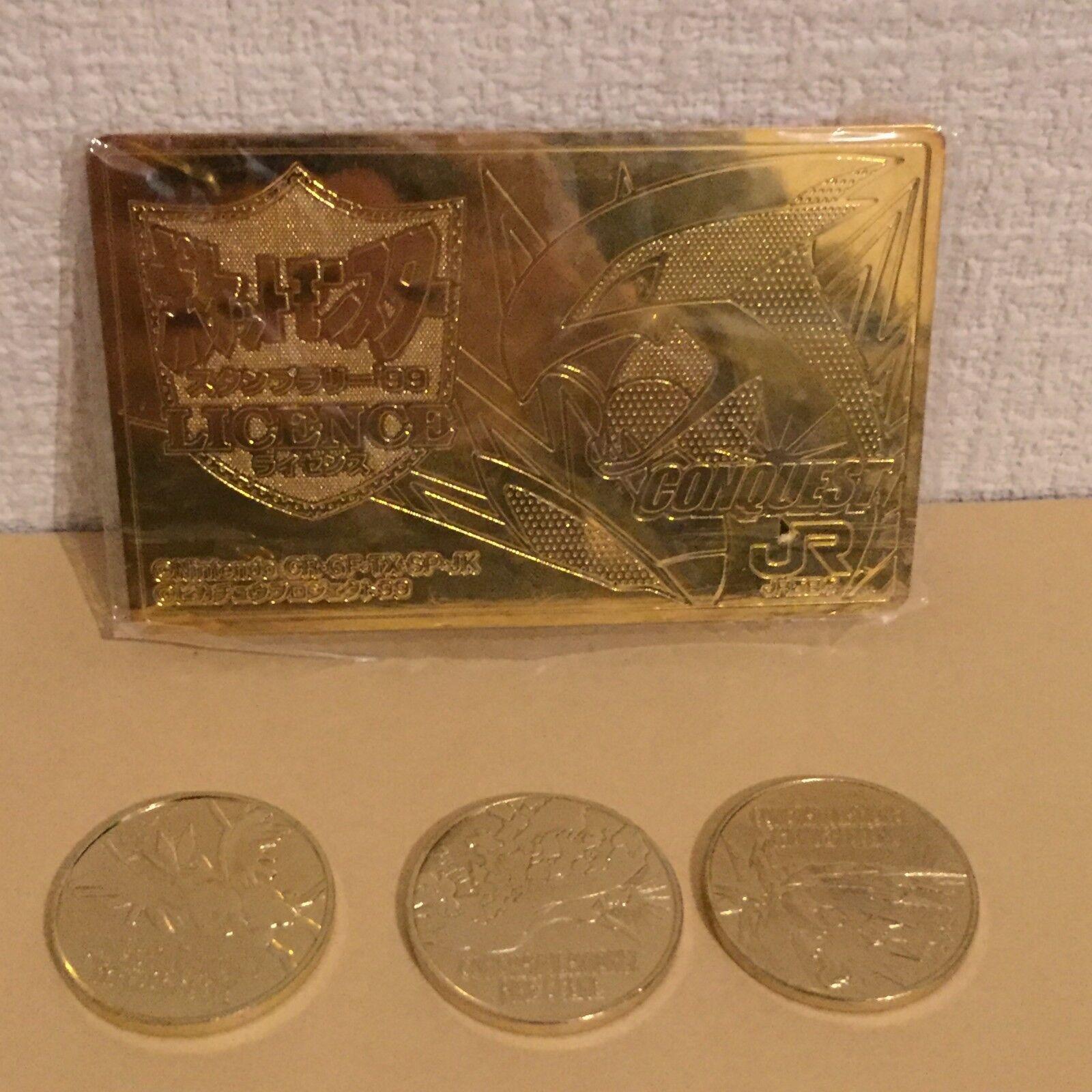 Very Rare JAPAN Pokemon JR Stamp Rally 99 Lugia Zapdos Articuno Moltres coin